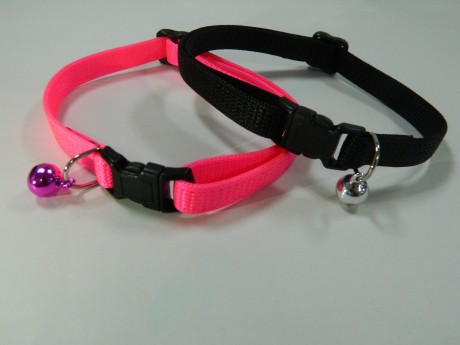 Cat Collar, Breakaway Adjustable Cat Collar with Bell-3/8""